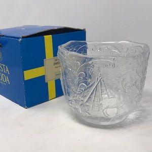 Kosta Boden Sweden hand made crystal NWB